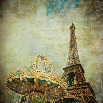 Study in France - Tour Eiffel and Carroussel