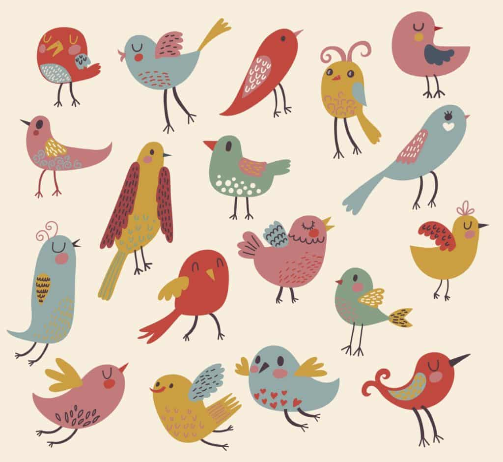 Our Community - Birds Red