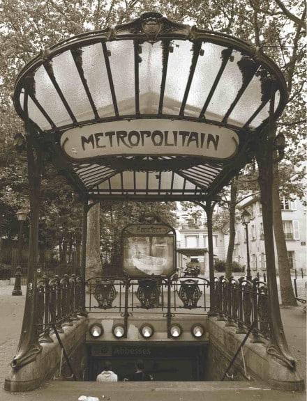 Transportation - Metropolitain Paris Sepia