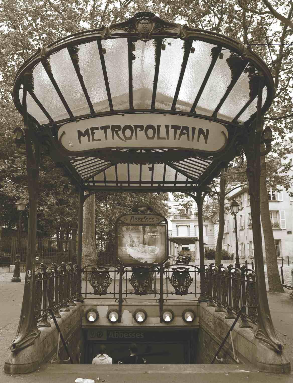 Transportation - Metropolitain Paris Sepia