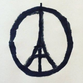After Paris attacks - Paris peace symbol