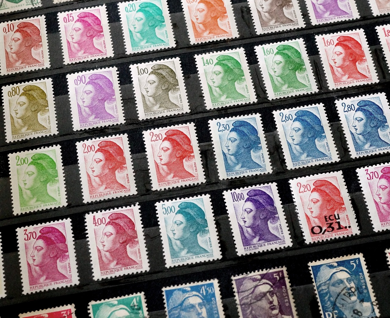 French figures - Jobs in France - Stamps Marianne