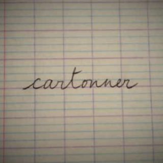 French word cartonner on a notebook