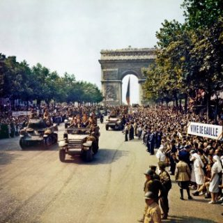 arc de triomphe liberation Paris 8th May in France