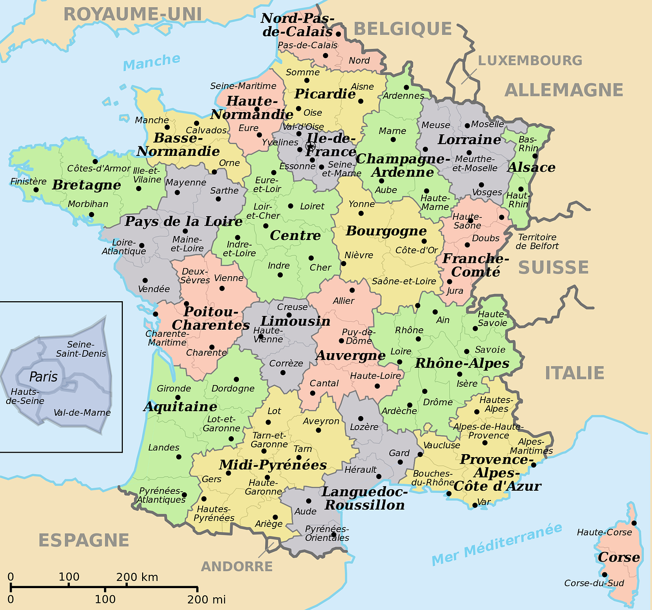 Trips & Excursions - Map of France