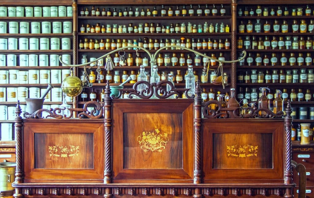 Photo of an old pharmacy