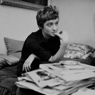 Photo of the author, Françoise Sagan