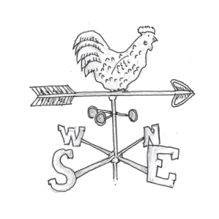 Drawing of a weather vane