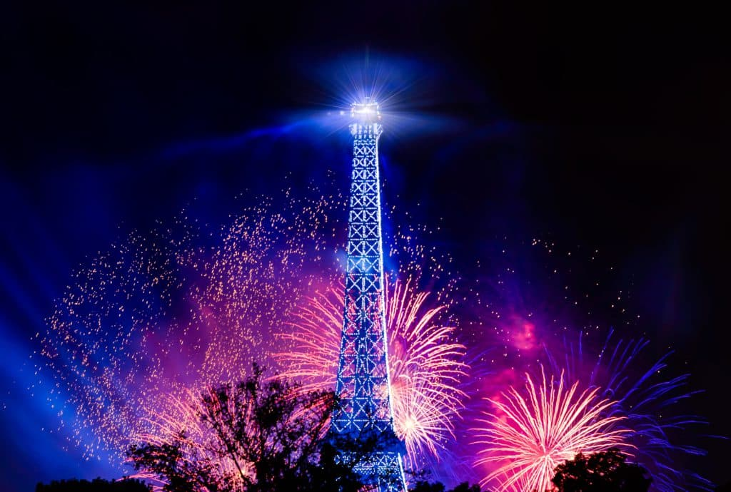 an image of the fireworks on Bastille Day