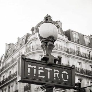 A metro sign