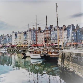 the town of Honfleur, en Normandie