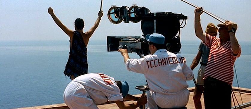 filming filmmaking in Le Mépris