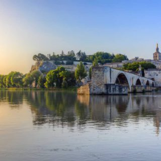 avignon bridge sunset