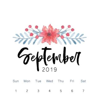 September 2019 calendar and good deals