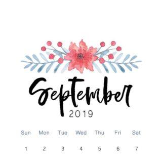 September 2019 calendar and good deals
