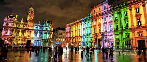 Find a job in Lyon - fête des lumières