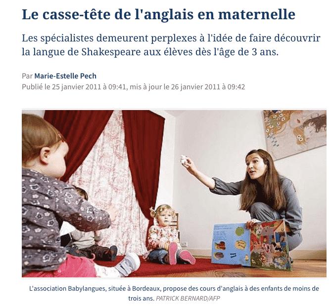 Babylangues - Anglais pour les enfants - Le Figaro